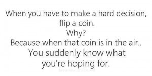 coin flip for the mental game